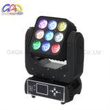 RGBW 4in1 9*12W bewegliches Hauptwäsche-Licht der Matrix-LED