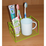 Het Rek van de Organisator van de Tandenborstel van het Toilet van de draad (LJ9036)