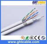 Câble du réseau 4p UTP Cat5e de Muti-Medias et câble de l'antenne RG6