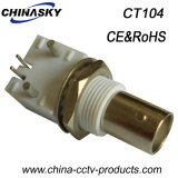 Enchufe del CCTV BNC de la hembra del conector coaxial para PWB (CT104)
