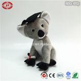 Gris reposant le jouet mou de graduation de peluche de koala Nice de peluche