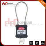 Het flexibele Hangslot van de Veiligheid van de Kabel van het Staal met Kabellengte 175mm