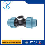 Pp 25mm Tee Compression Fitting voor Irrigation