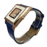 Señora de encargo reloj Lw-07b del cuero genuino