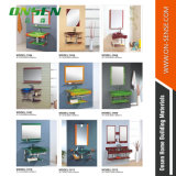 Edelstahl-Badezimmer-Glasspiegel-Schrank