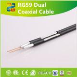 Cable de 75 ohmios Rg59 doble estándar de la comunicación coaxial