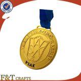 Medalla olímpica de encargo del metal del recuerdo suave promocional del esmalte con la cinta
