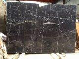 自然な石造りの建築材料の黒のMarquinaの大理石の平板