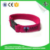 Kundenspezifisches Gewebe-TextilWristbandsfestival gesponnener Wristband