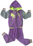 Kids Apparel Swg152のためのSport Wear Suitの方法Fleece Girl Children Clothes