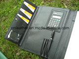 Nuovo dispositivo di piegatura di cuoio indicato di congresso con il supporto di scheda, ciclo della penna