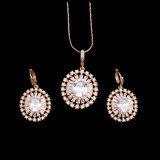 卸し売り女性の方法金は最新のデザインの宝石類セットをめっきした