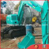 Novo-Verde-Repintar a máquina escavadora hidráulica usada Mini-6ton da esteira rolante de Kobelco Sk60 da Fácil-Manutenção do Disponível-Confortável-Táxi