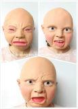 Creepy Party Novedad Halloween Traje Parte Látex Cabeza Máscara Cry Baby Máscara