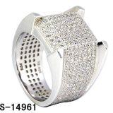 Nuovo argento 925 dell'anello dei monili di modo di disegno per gli uomini