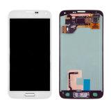 Convertisseur analogique/numérique blanc d'écran tactile d'étalage d'écran LCD de la galaxie S5 I9600 G900A de Yhss Samsung