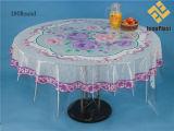 Cubierta transparente de la mesa redonda del PVC del diseño independiente (TZ0014)