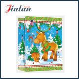 напечатанный 4c мешок подарка руки рождества шаржа бумаги с покрытием бумажный