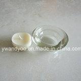 Vela perfumada de Tealight de la soja con el sostenedor de cristal