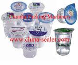 Enchimento do copo do Yogurt e máquina plásticos da selagem