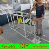 Будочка торговой выставки ткани модульной серии m алюминиевая