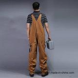 100% Baumwollreißverschluss-Vorderseite-lange Hülsen-Sicherheit Bip und Klammer-Uniform (BLY4002)