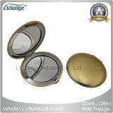 Espelho em branco do estojo compato do metal da forma do círculo de Chrone