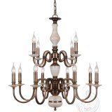 Chandelier with Marble, Golden Iron counterpart Lighting Fixture (SL2260-6)