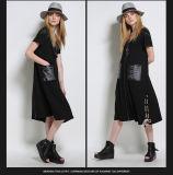 Vestido confortável ocasional preto de 2016 senhoras da forma
