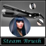 Vapor com a escova do Straightener do cabelo do LCD