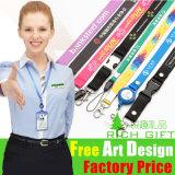 Wholesale feito sob encomenda Ribon Printing Lanyard para Promotion Free Sample
