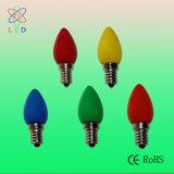 Bulbos tallados C9 festivos de la luz LED E17 del árbol de navidad del LED C9