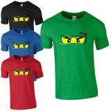 T-shirts unisexes de vente en gros de té de coton estampés par coutume (A240)