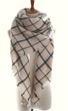 Lenço europeu de White&Black da grade do xaile do estilo da forma nova