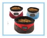 Beweglicher bewegender Gebrauch-faltender Typ Polyester-Nahrung- für Haustierehundeschüssel
