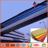 Ideabondの工場4ftx8ft屋外PVDFオレンジ絵画クラッディングパネル