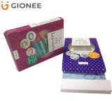 Regalo caja de embalaje plegable del tablero de papel de impresión personalizada