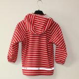 Куртка/плащ дождя PU красной нашивки отражательные