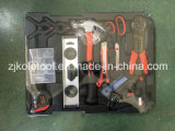 Caja de herramientas de aluminio popular 186PC con las llaves inglesas de trinquete 10PC
