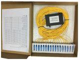 1*32 com o divisor em forma de caixa do PLC da fibra do ABS do conetor de Sc/Upc