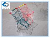 Trole de compra dos miúdos coloridos com frame do metal