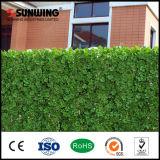 Rete fissa di plastica artificiale verde protettiva UV del giardino del foglio dell'EDERA di Sunwing