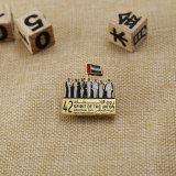 Kundenspezifisches Metallsilber-Goldabzeichen für UAE
