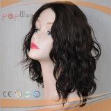 Erstklassige menschliche getragene natürliche wellenförmige Dosen-Letzt-lange Zeit-Wäsche-europäische Haar-Perücke