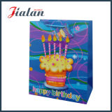 Il marchio su ordinazione di disegno di buon compleanno comercia il sacchetto all'ingrosso di carta poco costoso dell'imballaggio