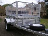 een hoogste Kwaliteit 8FT X 5FT die Gekooide Aanhangwagen met Helling tippen