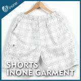 Inone 064 Mens nada Shorts ocasionais da placa das calças curtas