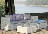 sofá ao ar livre do canto do Rattan do lazer do hotel de luxo by-439