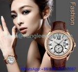 De Horloges van de Luxe van de Legering van de hoogste-kwaliteit met Echte Hl 15046 van het Leer