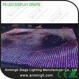 O vídeo macio de /LED do indicador de /LED da cortina da visão do diodo emissor de luz P6 drapeja